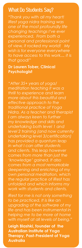 What Students Say About iRest Level 1 Training