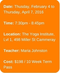 Yoga Meditation - Thursday 4 Feb - Thursday 7 April 2016
